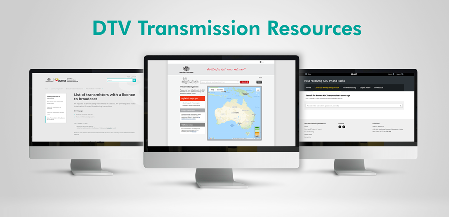 Australia DTV Transmission Map Resources