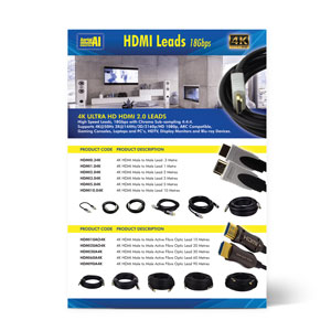 Click here to Download Product Information Flyer for 4K HDMI 18Gbps Leads (PDF)