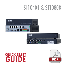 SI10404 and SI10808 Quick Start Guide