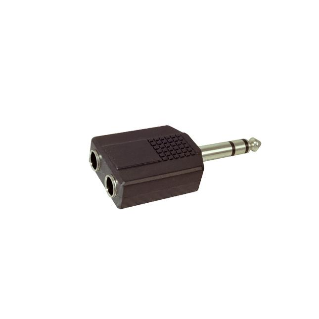 Adapter 6.35mm Male STEREO to x2 6.35mm Male STEREO
