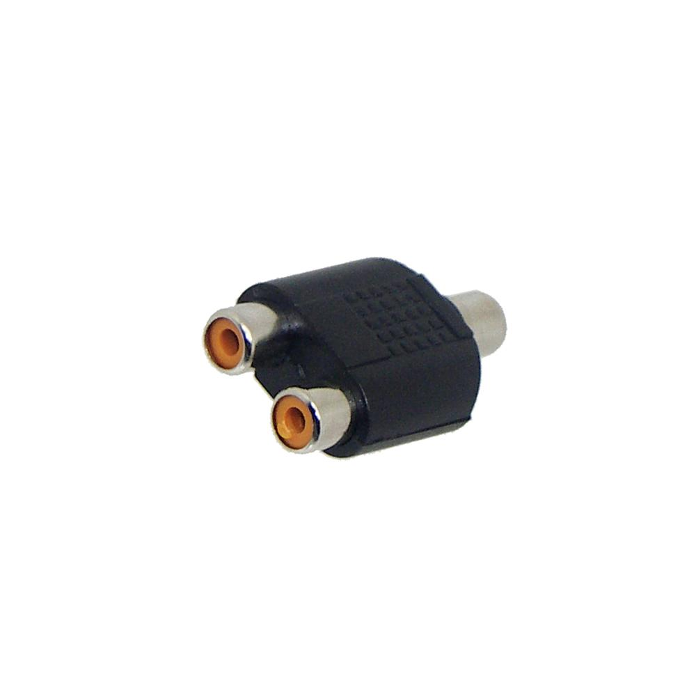 Adapter x1 RCA Female to x2 RCA Female