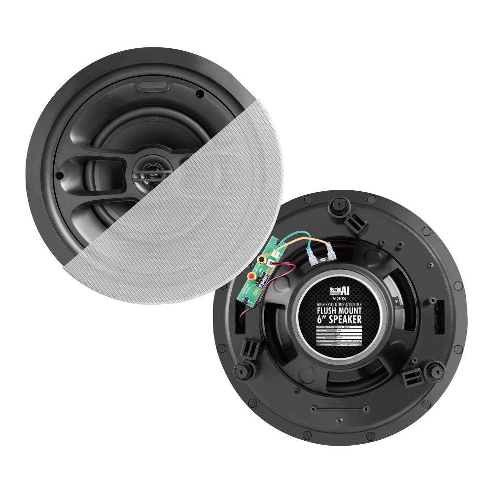 Flush Mount Speaker Pair 6 Inch 50 Watt AERIAL INDUSTRIES