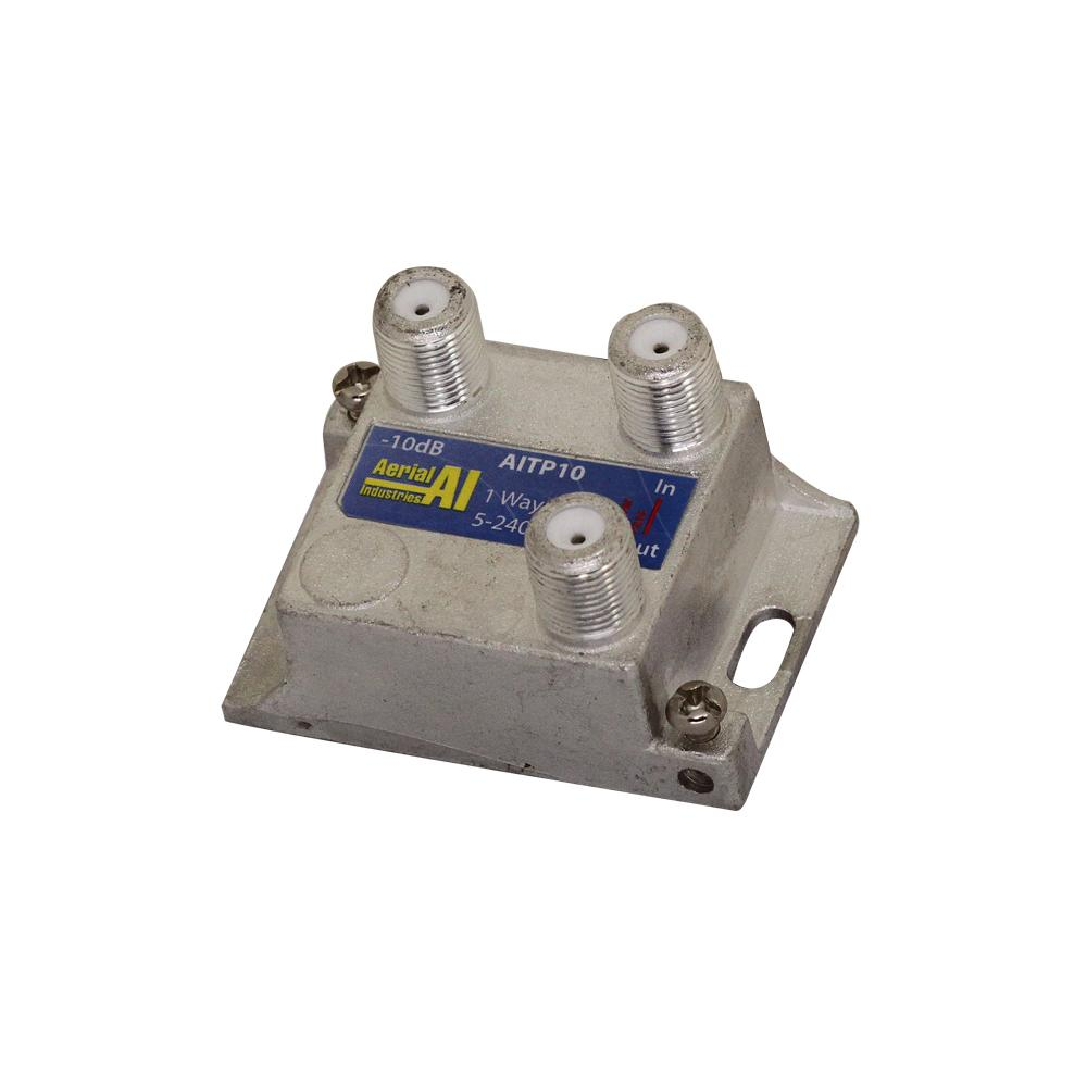 Satellite Tap 1 Way -10dB 5 to 2400MHz AERIAL INDUSTRIES