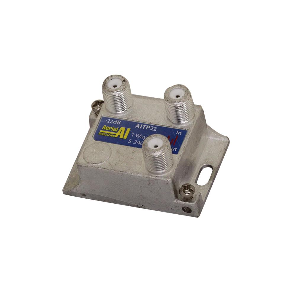 Satellite Tap 1 Way -22dB 5 to 2400MHz AERIAL INDUSTRIES