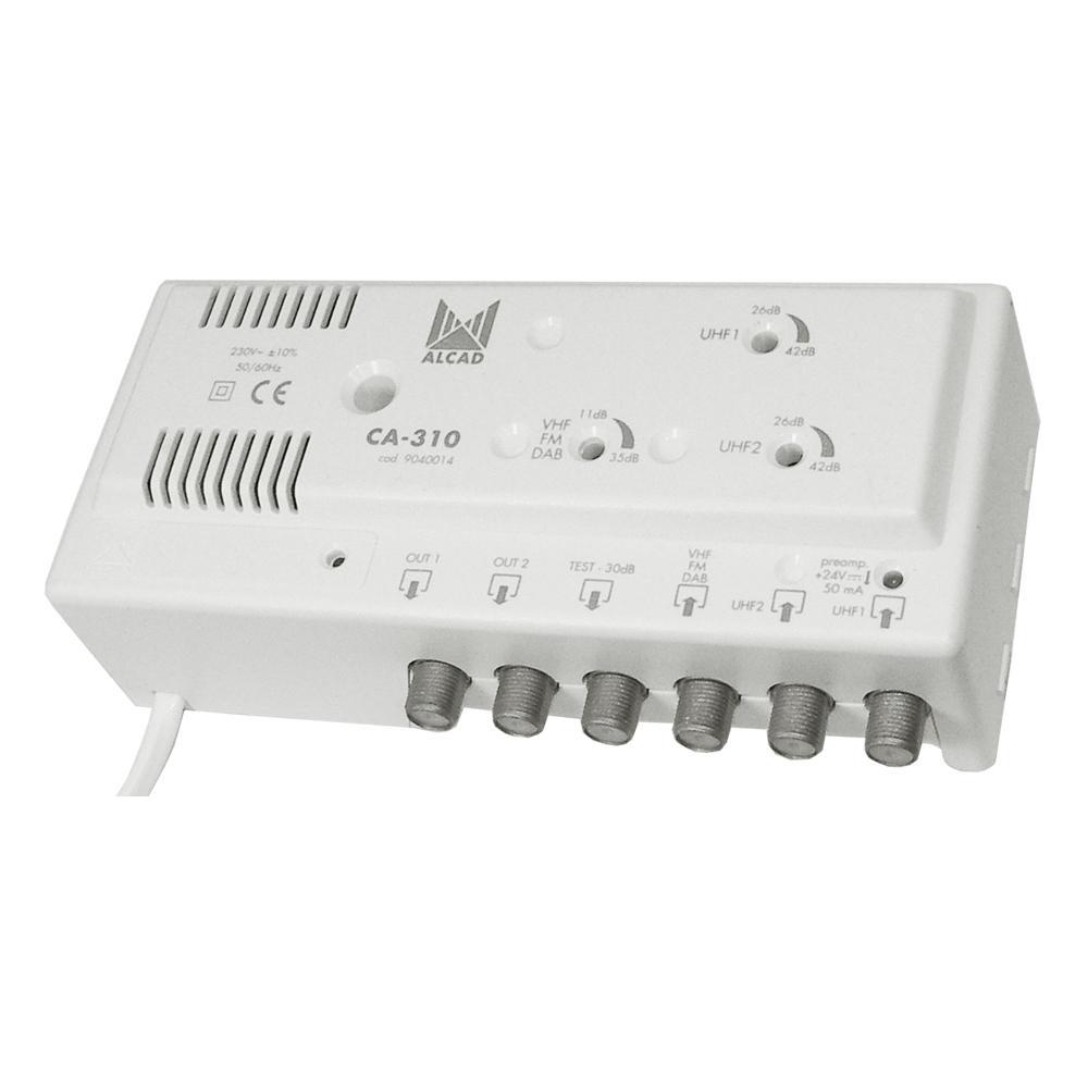 Distribution Amplifier 3 VHF Inputs +33dB Gain x2 UHF 46dB Gain ALCAD