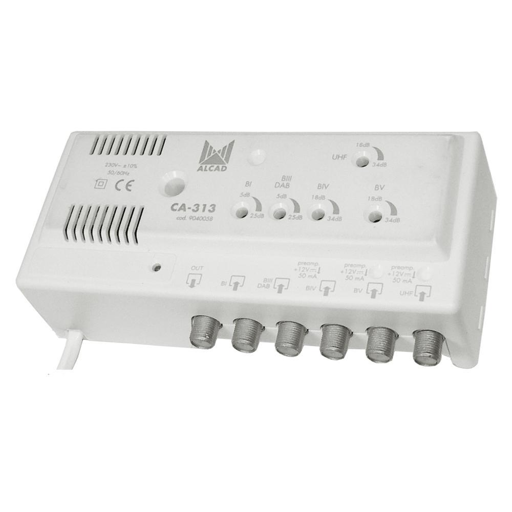 Distribution Amplifier 5 Inputs +29dB Gain B1 and 3+34dB UHF B4 B5 ALCAD