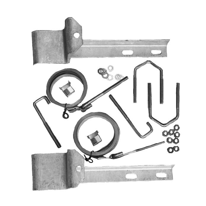 Chimney Kit Double Strap 15 Inch Galvanised