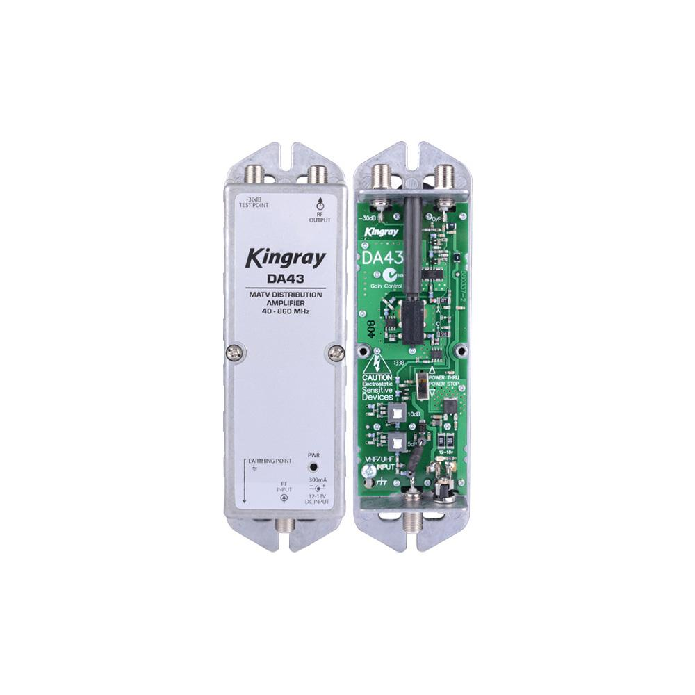 Distribution Amplifier Wideband 43dB Requires PSK18S KINGRAY