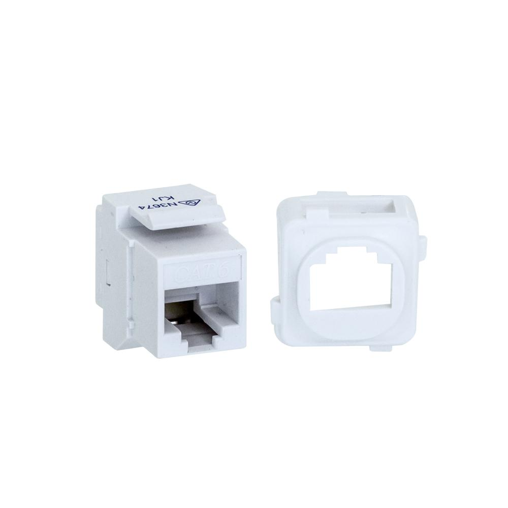 CAT6 Keystone Adapter Coupler with Clip for CLIPSAL Plate