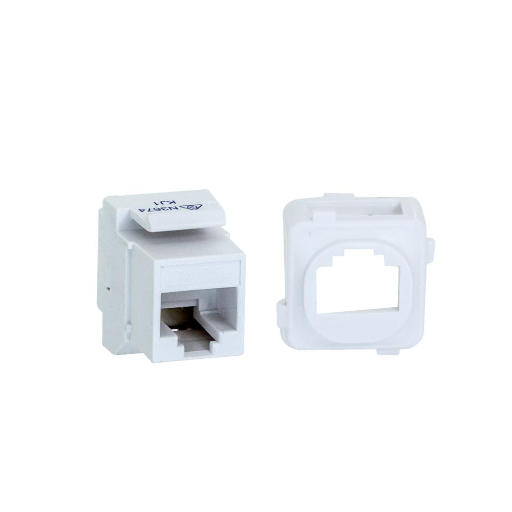 CAT5e Keystone Adapter Coupler with Clip for Clipsal Plate