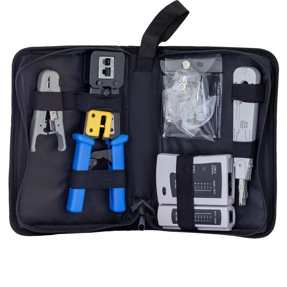 Premium Network Cable Tool Kit for feed through connectors