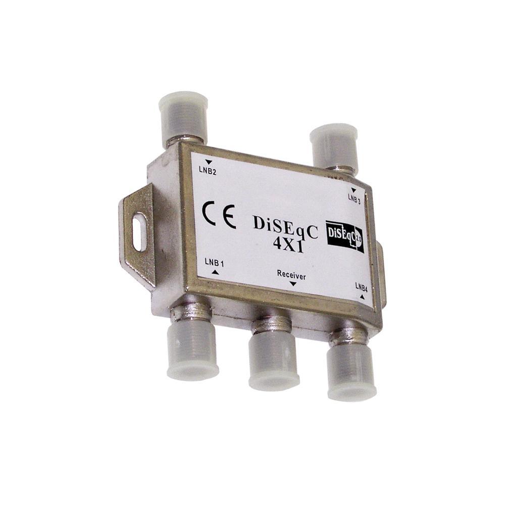 Indoor 4 Way Satellite DiSEqC Switch