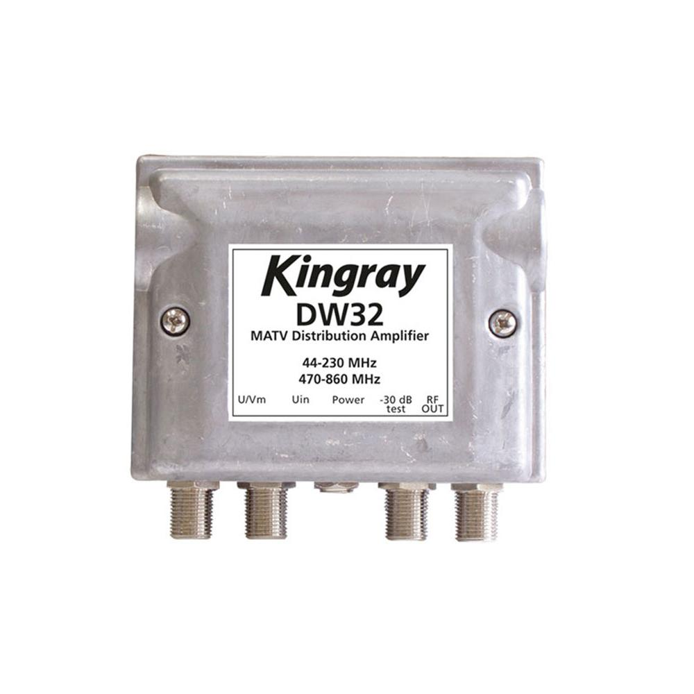 Distribution Amplifier 2 Input +32dB Gain  2 In 2 Out KINGRAY