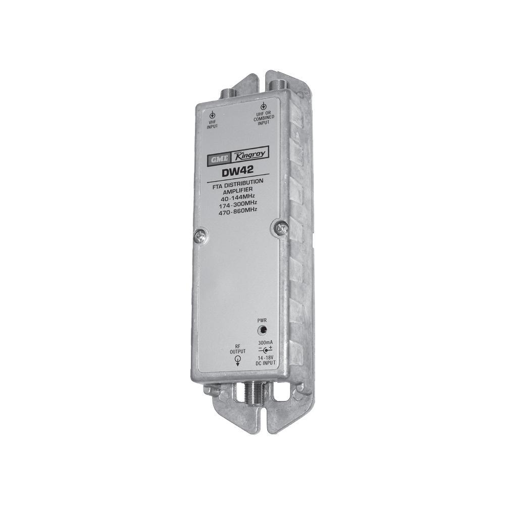 Distribution Amplifier 2 Inputs VHF +35dB UHF +40dB Requires PSK18S KINGRAY