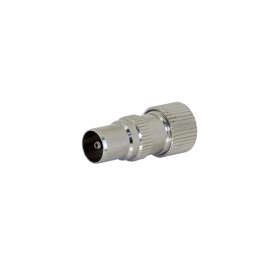 Adapter PAL Male Recessed Philips Screw Coax Plug