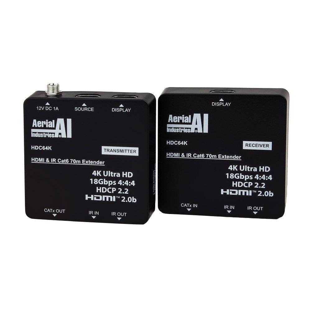 HDMI 4K Extender CAT6 70 Metres with IR Return and HDMI Loopthrough