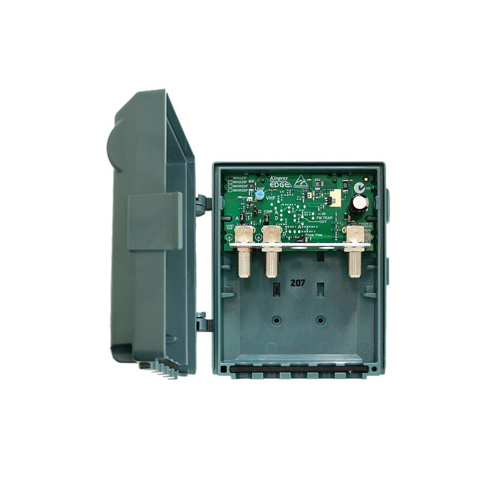 Masthead Amplifier 25dB gain 2 Input UHF Edge Lte