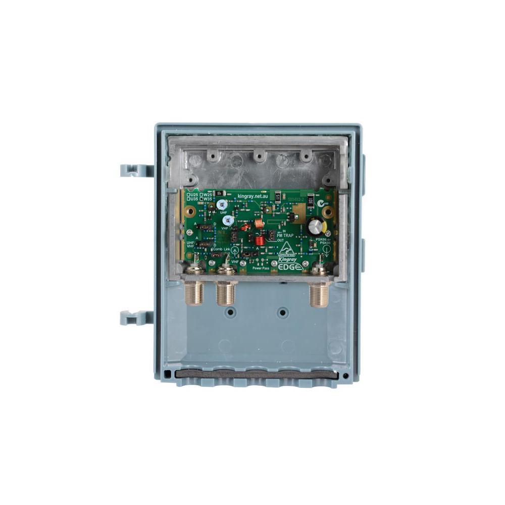 Masthead Amplifier, Shielded, 35dB gain 2 Input UHF Edge Lte