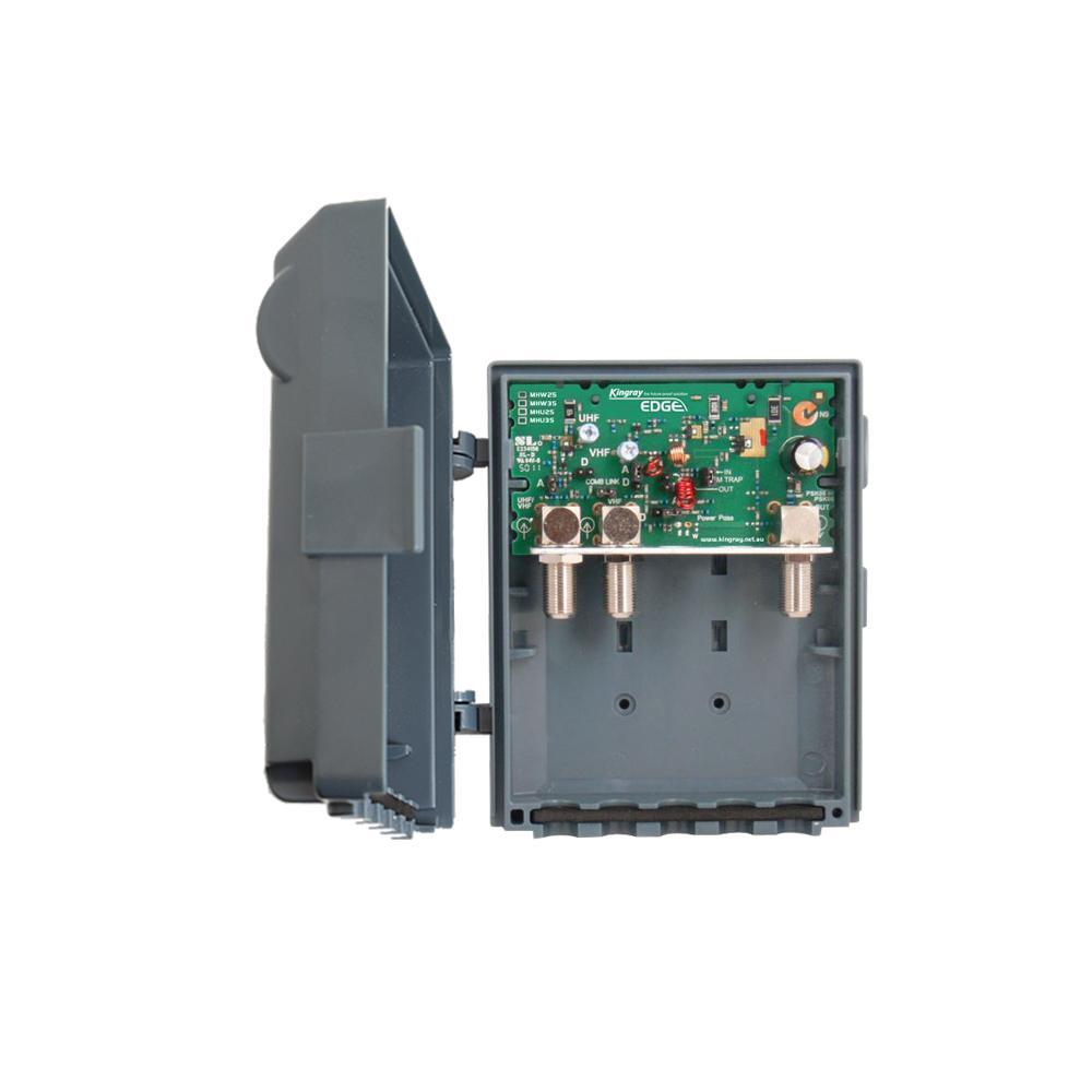 Masthead Amplifier 25dB gain 2 Input UHF/VHF Edge Lte