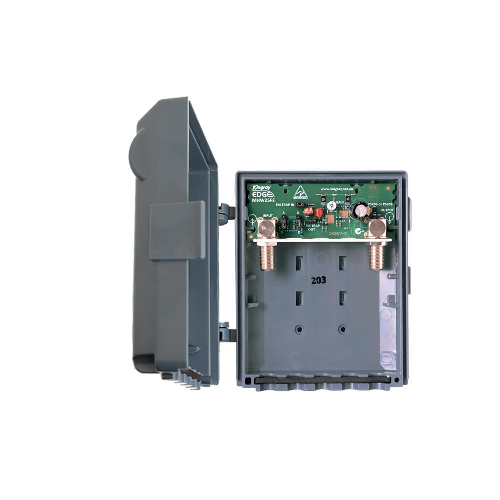 Masthead Amplifier 25dB gain 1 Input UHF/VHF Edge Lte
