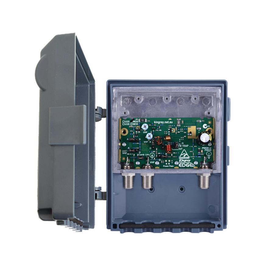 Masthead Amplifier F Type Shielded 25dB VHF/UHF Edge Lte