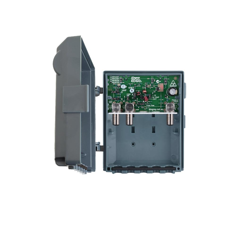 Masthead Amplifier 35dB gain 2 Input UHF/VHF Edge Lte