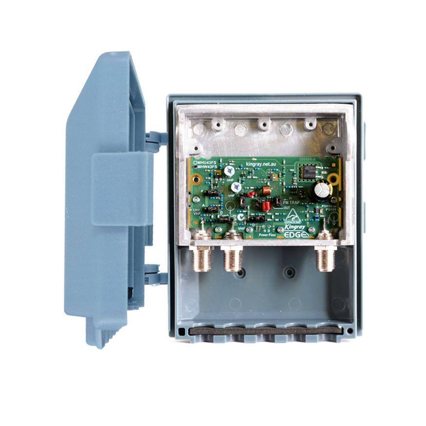 Masthead Amplifier +43dB VHF/UHF F Type Shielded Edge Lte