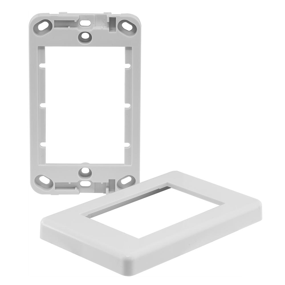 Modular Wall Plate Master Frame for All Module Inserts