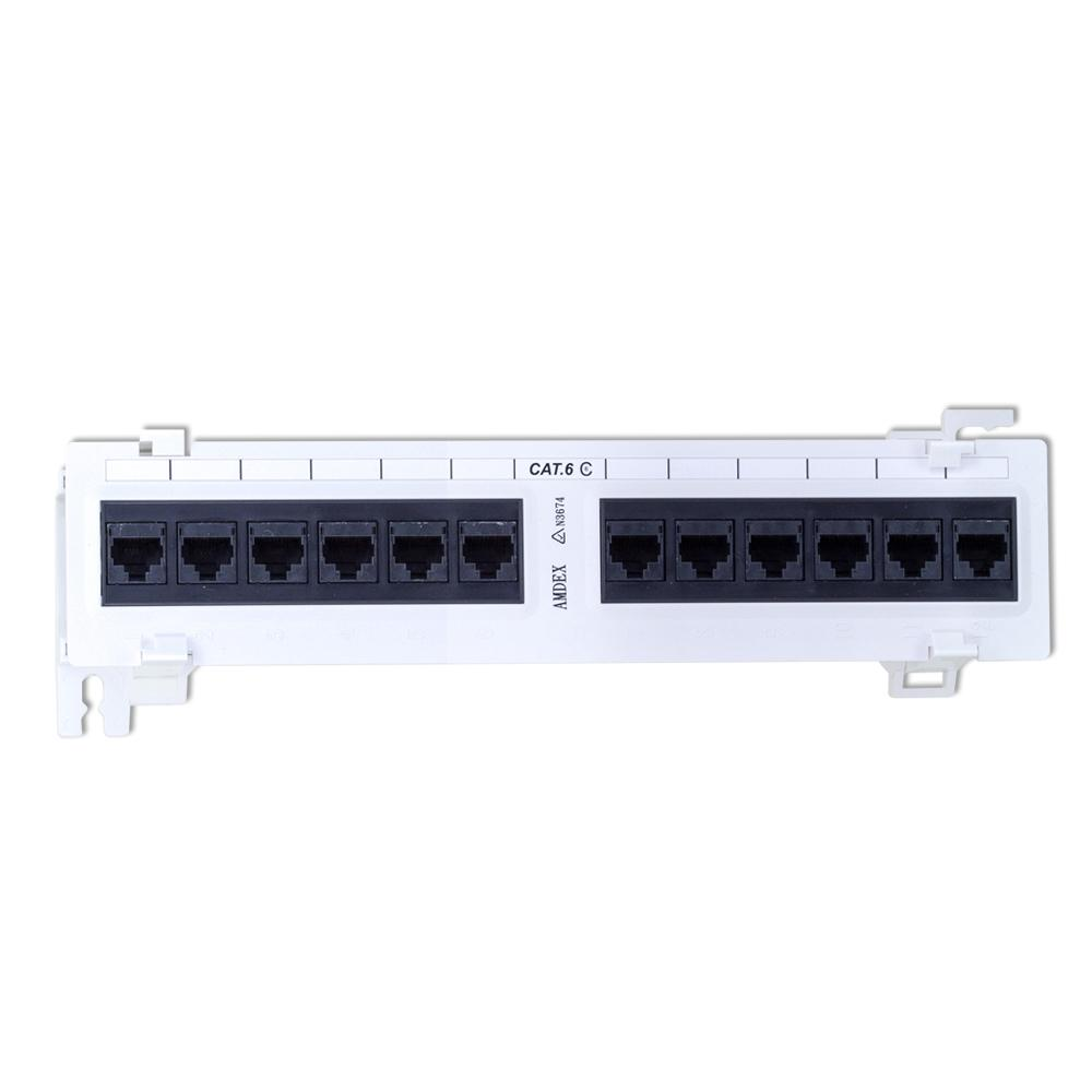 Patch Panel Wall Mount 12 Port CAT6 10 Inch