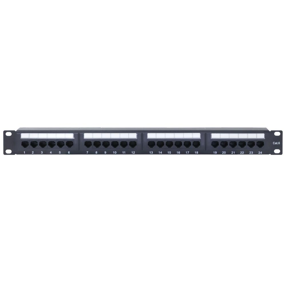 Patch Panel 24 Port CAT6 with Cable Support