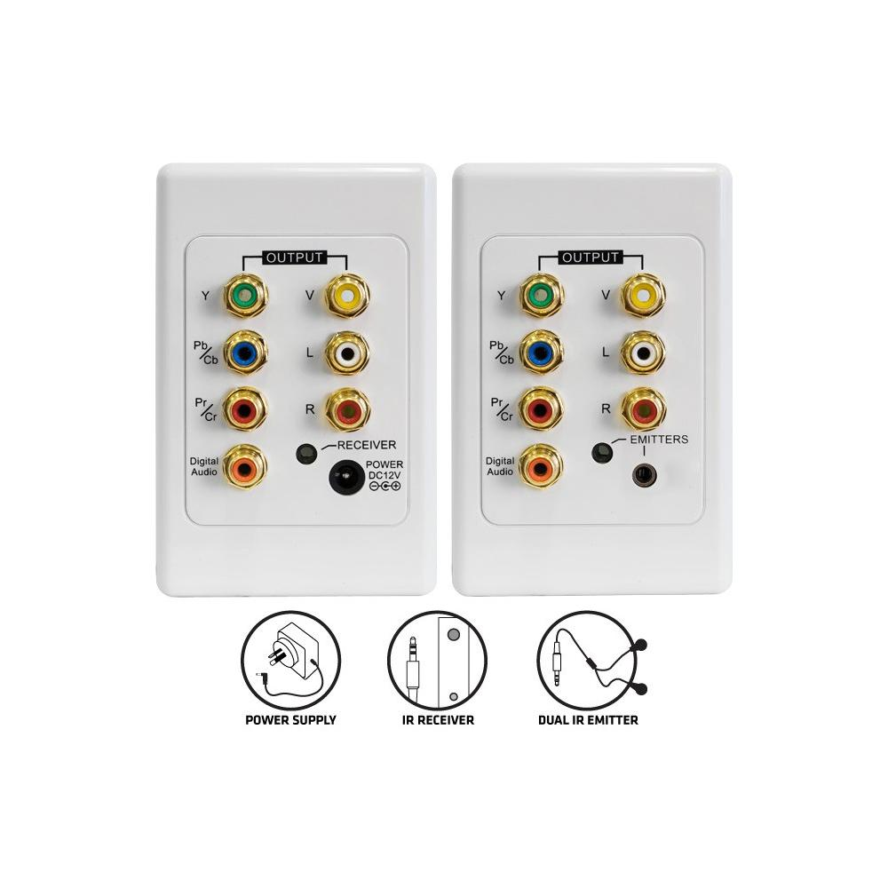 Wall Plate Audio Video and Component with IR over CAT5e