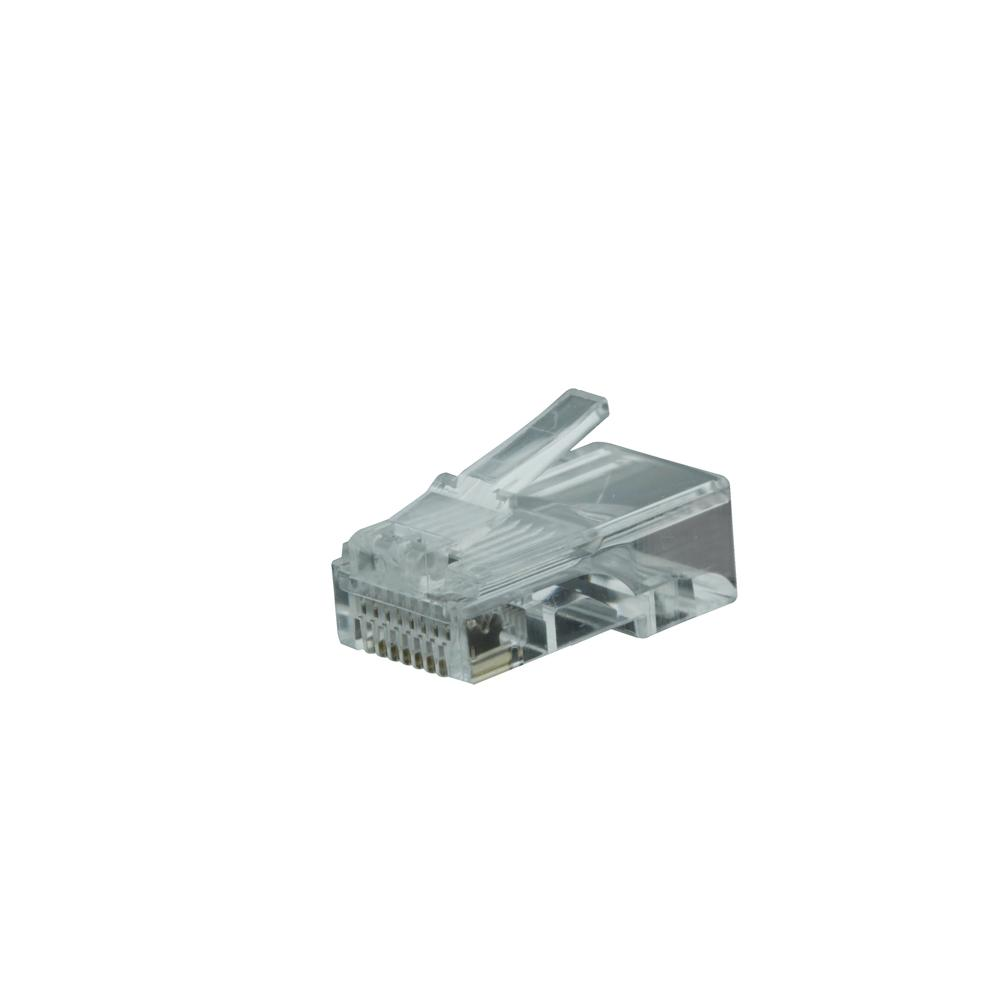 8 Position Modular Plug 8P8C for Stranded Cable (Bag of 100)