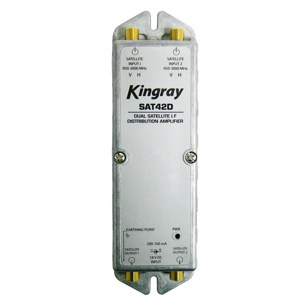 Distribution Amplifier Dual Input Satellite F Type PayTV Approved No. F30481 KIN