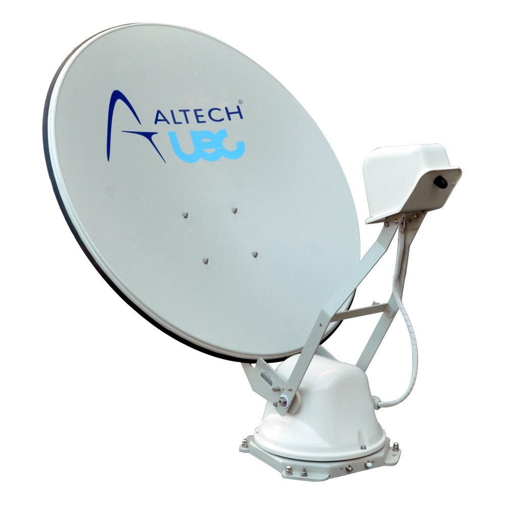 Caravan Satellite Dish Auto Deploy 85cm with Quad Output LNB  Skew and GPS UEC