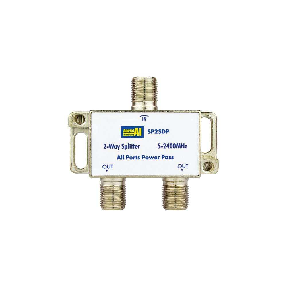 Splitter 2 Way 5 to 2400MHz Diode Steer All Ports Power Pass AERIAL INDUSTRIES