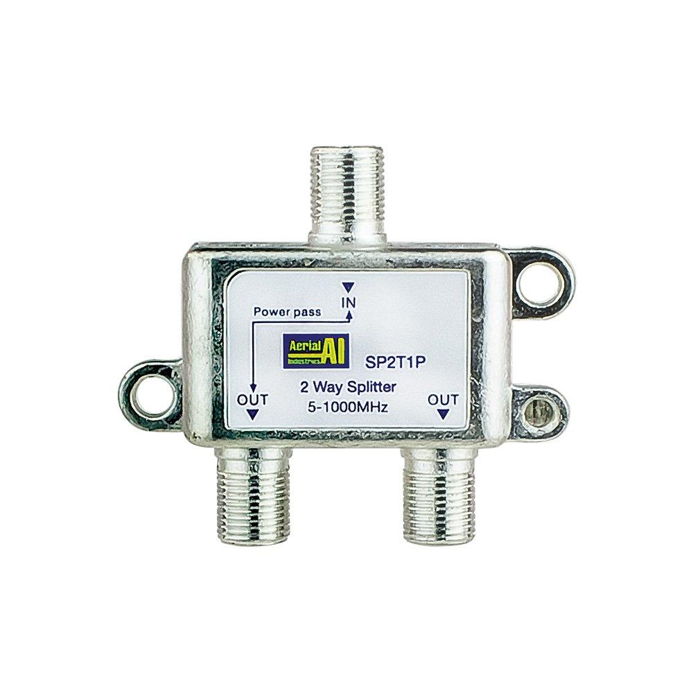 2 Way Splitter 5-1000MHz 1 Port Power Pass