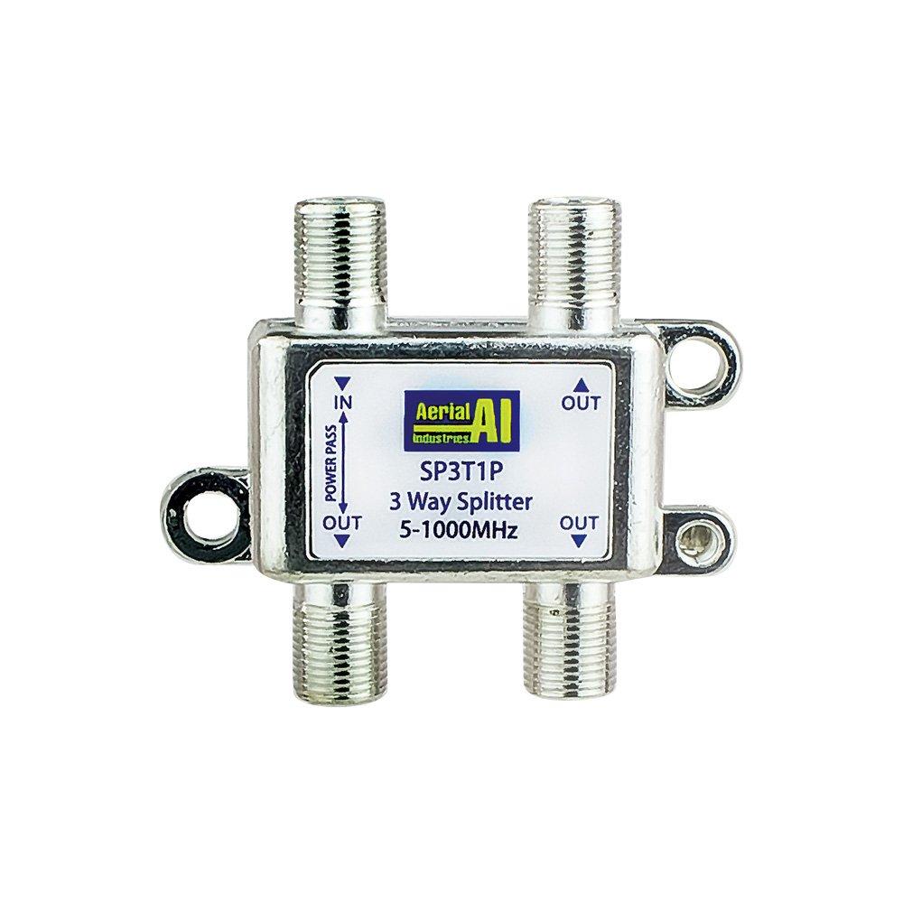 3 Way Splitter 5-1000MHz 1 Port Power Pass