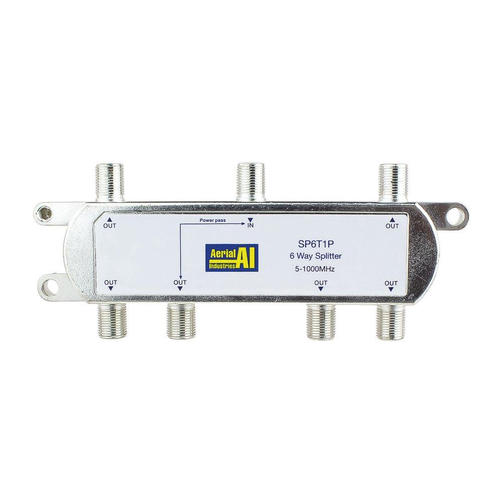 6 Way Splitter 5-1000MHz 1 Port Power Pass