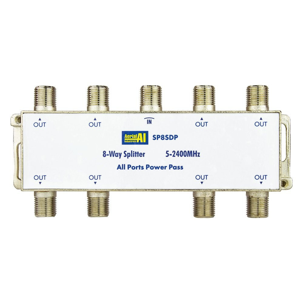 Splitter 8 Way 5 to 2400MHz Diode Steer All Ports Power Pass AERIAL INDUSTRIES