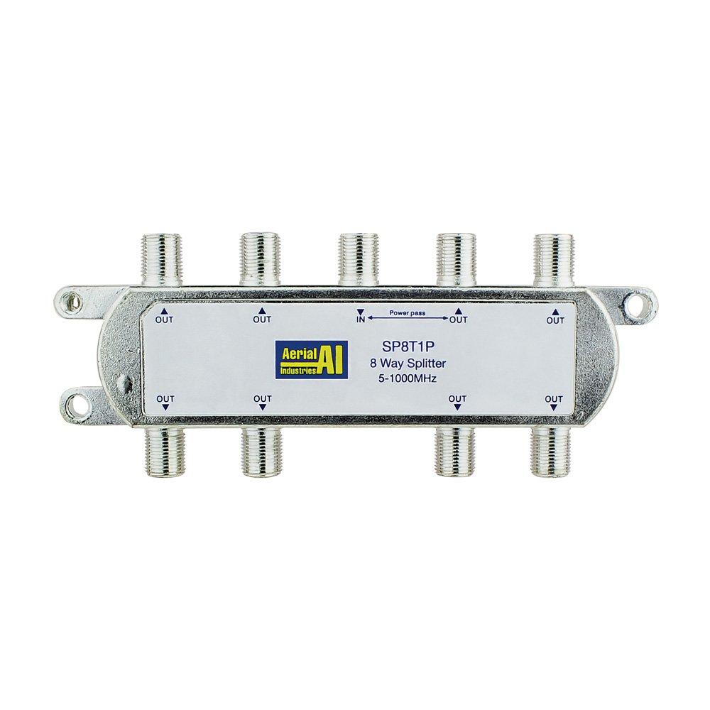 8 Way Splitter 5-1000MHz 1 Port Power Pass