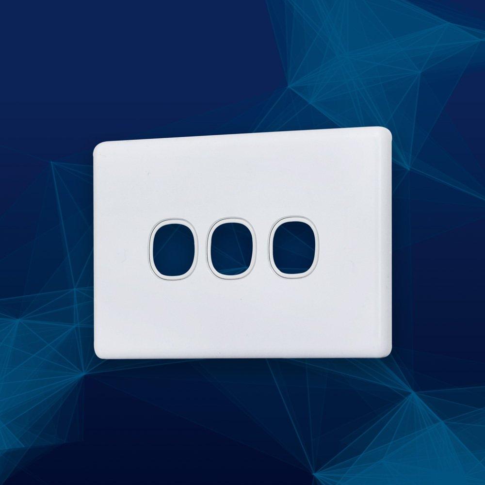 Wall Plate Slimline Premium 3 Gang