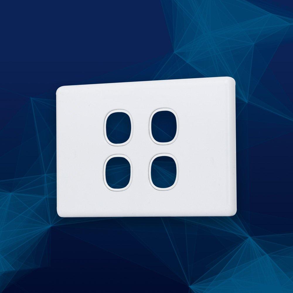 Wall Plate Slimline Premium 4 Gang