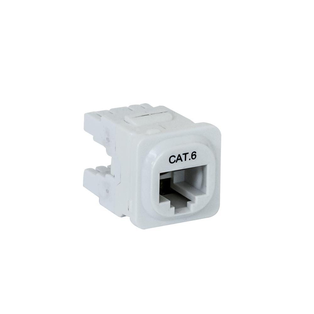 Wall Plate Mechanism Premium CAT6 White