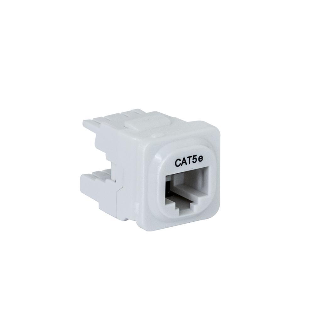 Wall Plate Mechanism Premium CAT5e White