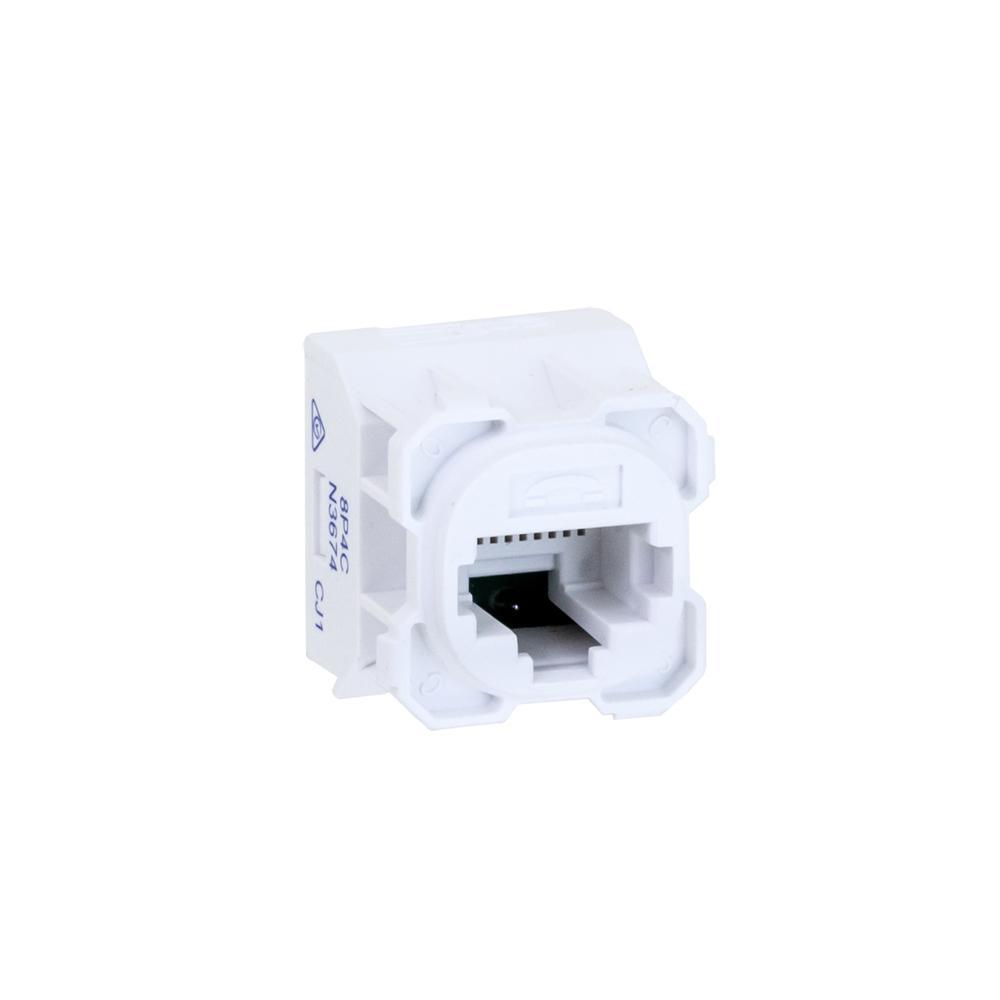 Wall Plate Mechanism RJ11 Telephone Insert AMDEX Type White