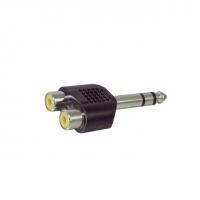 6.35mm Male STEREO to 2 x RCA Female Adaptor