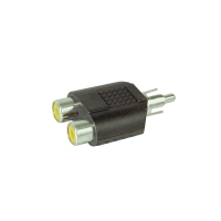 Adapter x1 RCA Male to x2 RCA Female