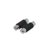 Adapter x2 RCA Female to x2 RCA Female