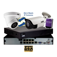 CCTV IP Kit 8 Channel NVR x8 8MP Cameras 4TB HDD Aerial Industries