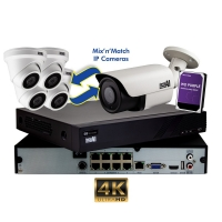 CCTV IP Kit 8 Channel NVR x4 5MP Cameras 2TB HDD AERIAL INDUSTRIES